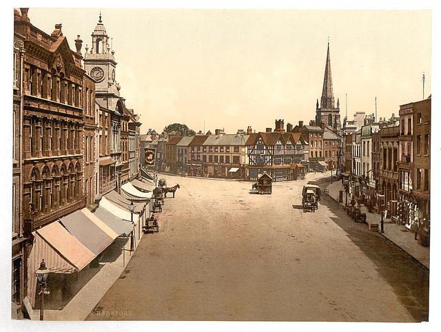 [High Tower [i.e., High Town], Hereford, England]