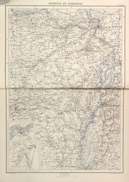 [Histoire de la guerre civile en Amérique] Atlas. [1874-90].