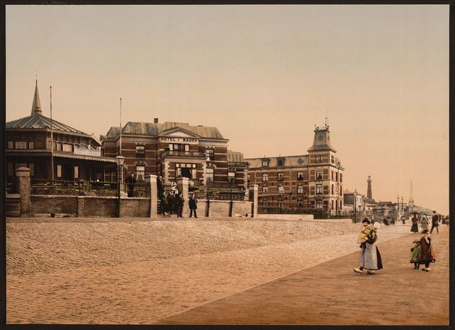 [Hotels, vuurtoren, and gedenknaald, 1830, Scheveningen, Holland]