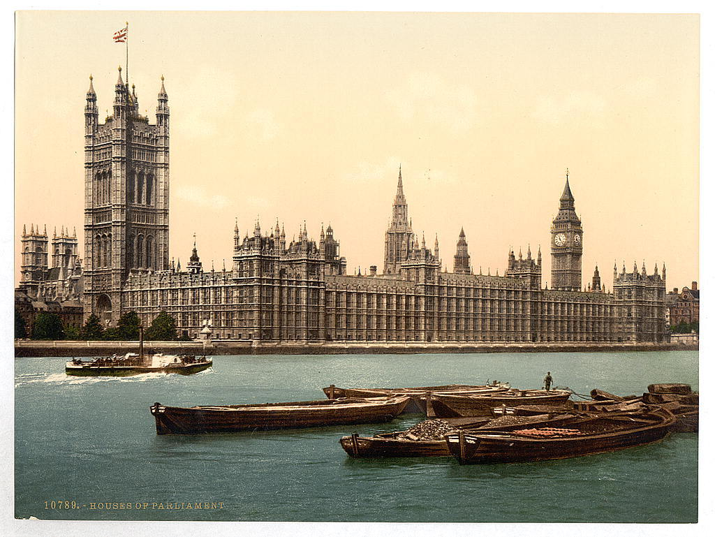 [Houses of Parliament from the river, London, England]