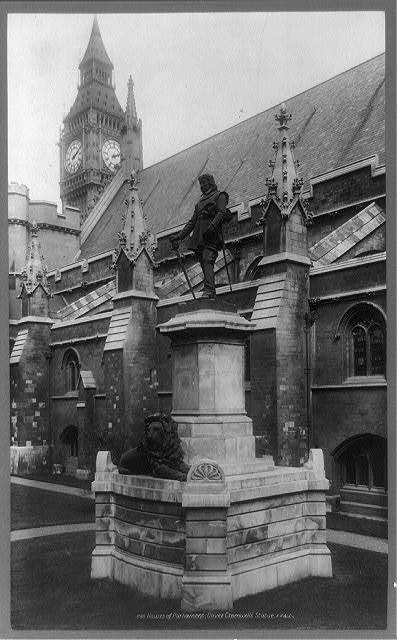 Houses of Parliament, Oliver Cromwell's statue / F.F. & Co.