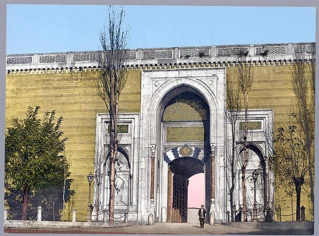 [Imperial gate, Topkapi Palace, Constantinople, Turkey]