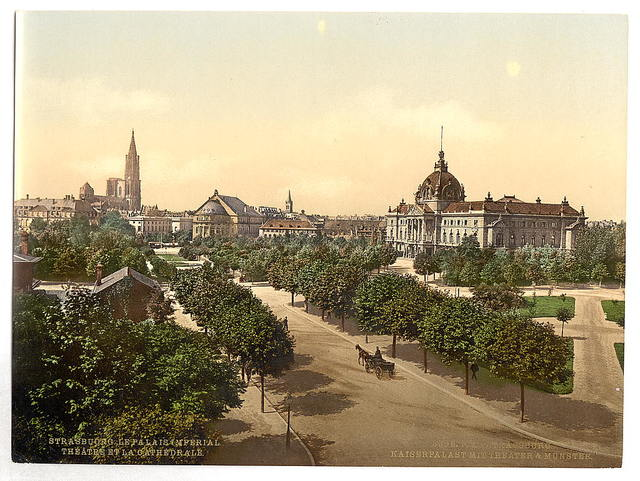 [Imperial Palace, theater and cathedral, Alsace Lorraine, Germany]