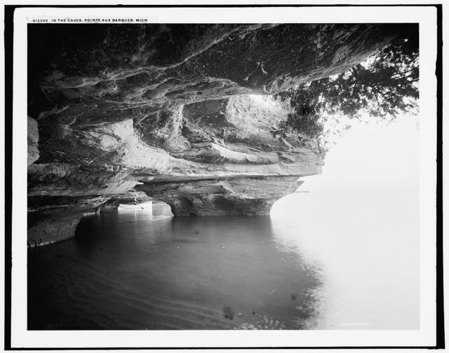 In the caves, Pointe aux Barques, Mich.