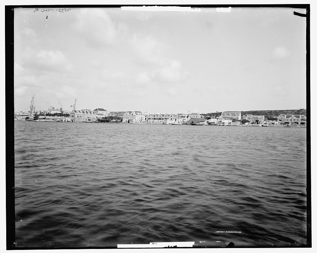 Inner canal and basin, Curacao, W.I.