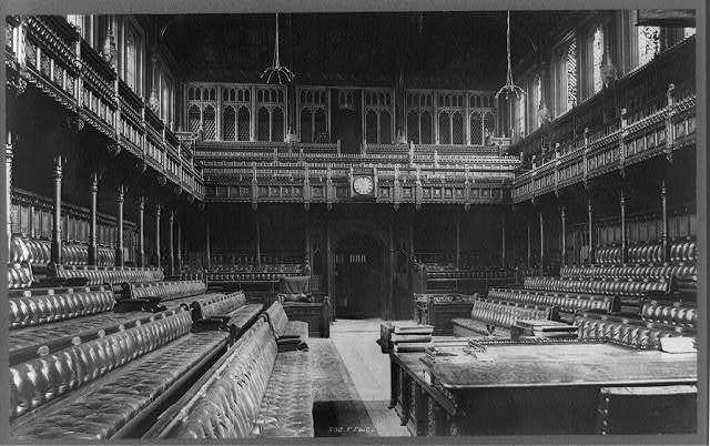 [Interior of House of Commons (Parliament House), London, England] / F.F. & Co.