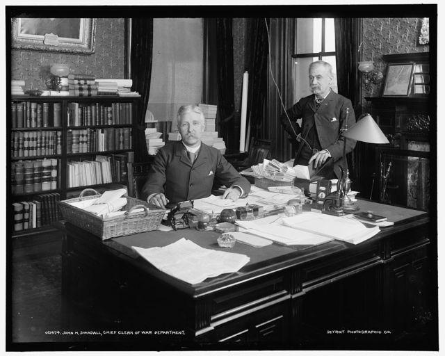 John M. Swadall, Chief Clerk of War Department