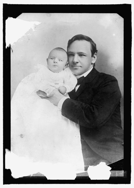 Josephus Daniels 189- with his first child
