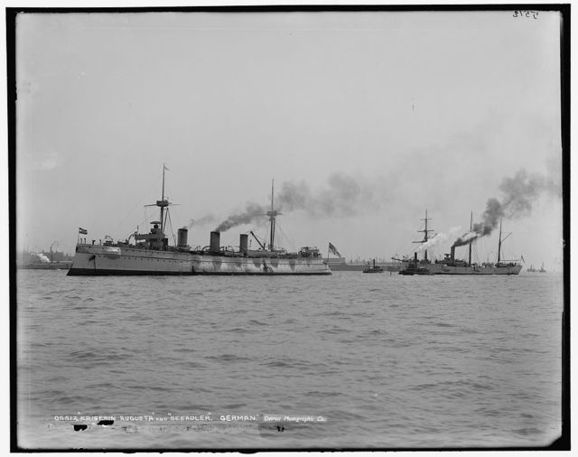 Kaiserin Augusta and Seeadler, German [ships]