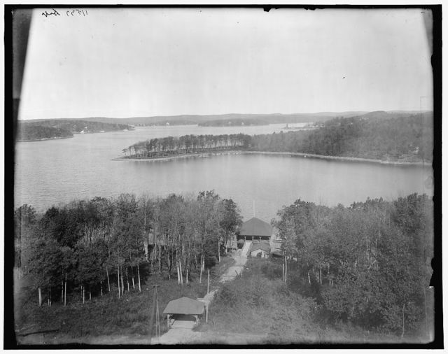Lake from the club house, Hopatcong, N.J.