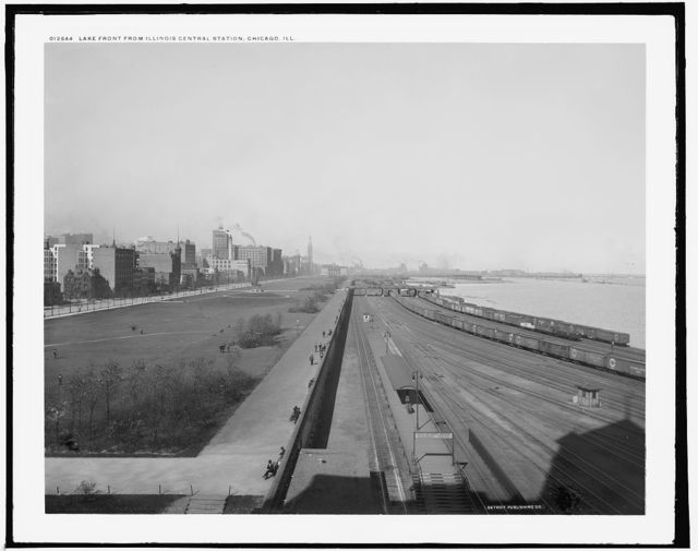 Lake front from Illinois Central station, Chicago, Ill.