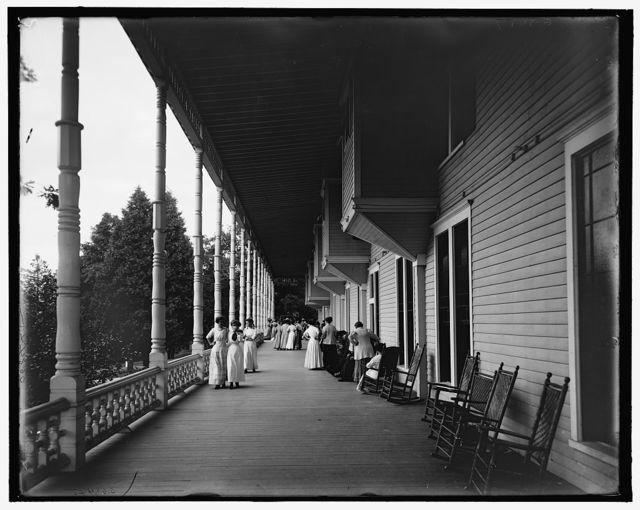 [Lake George, N.Y., the veranda, Hotel Marion on Lake George]