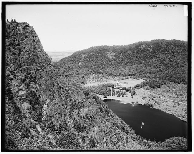 [Lake Glorietta [sic] and Table Rock from Old King, Dixville Notch, New Hampshire]