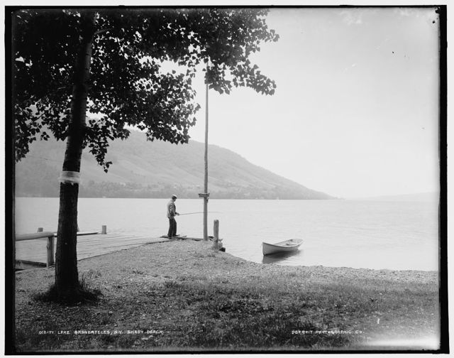 Lake Skaneateles, N.Y., shady beach