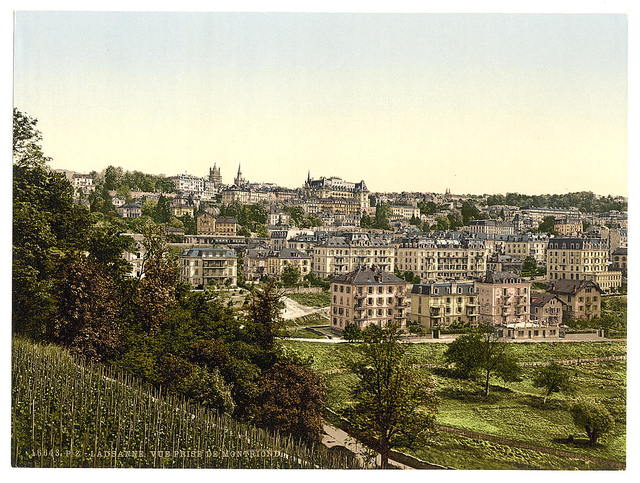 [Lausanne, view of the Montriond, Geneva Lake, Switzerland]