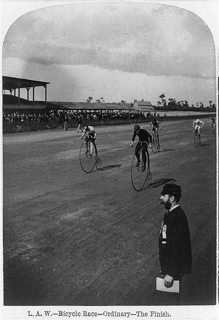 L.A.W. Bicycle Race --Ordinary--the finish