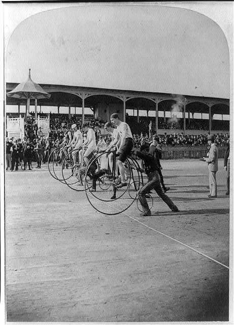 L.A.W. Bicycle Race--The start
