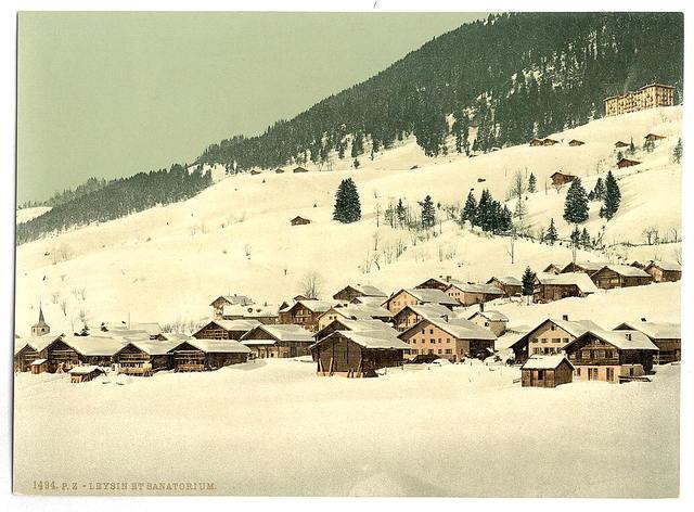 [Leysin, the village and sanatorium in winter, Vaud, Canton of, Switzerland]