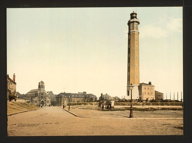 [Lighthouse and St. Peter's church, Calais, France]