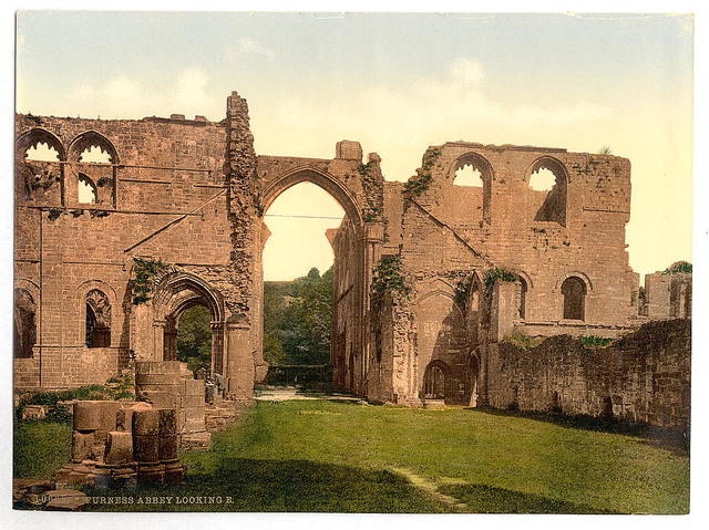 [Looking east, Furness Abbey, England]