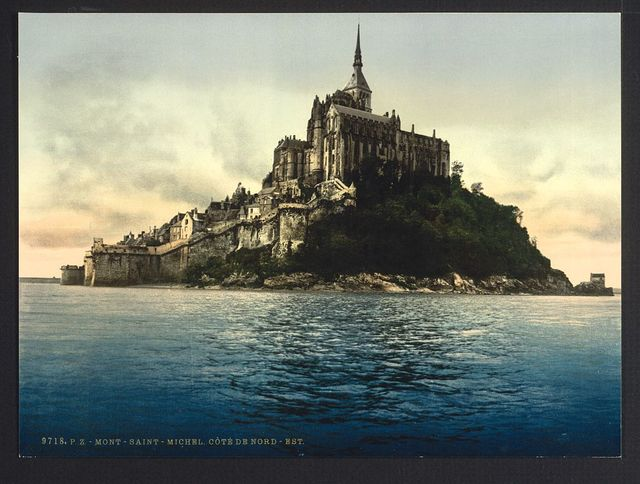 [Looking northeast at high water, Mont St. Michel, France]