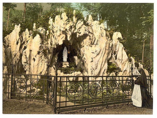[Lourdes Grotto, near the nunnery of Ingenbohl, Lake Lucerne, Switzerland]