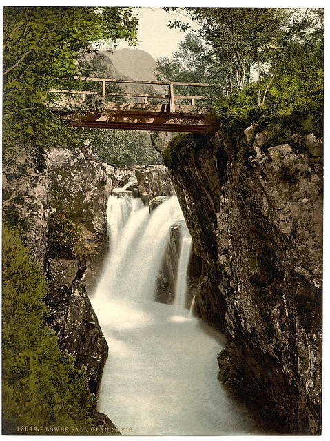 [Lower fall, Glen Nevis, Fort William, Scotland]