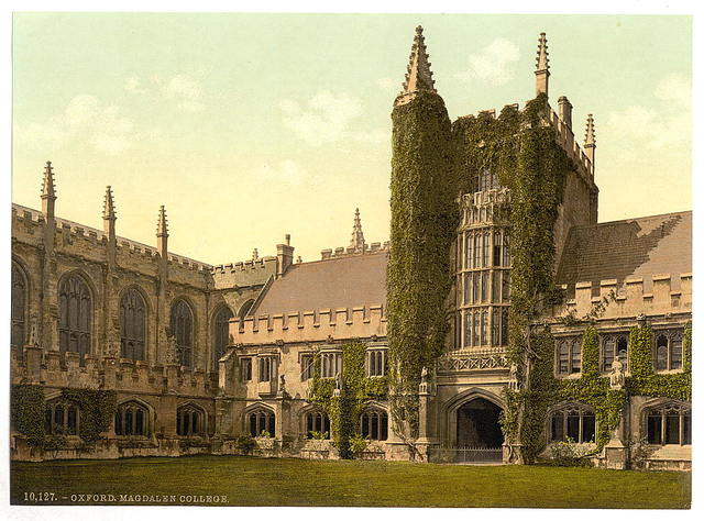 [Magdalen College, Founder's Tower and Cloisters, Oxford, England]