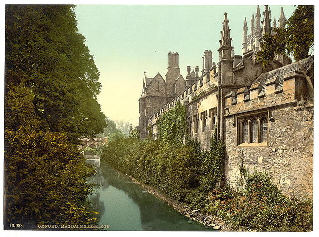 [Magdalen College, from the river, Oxford, England]