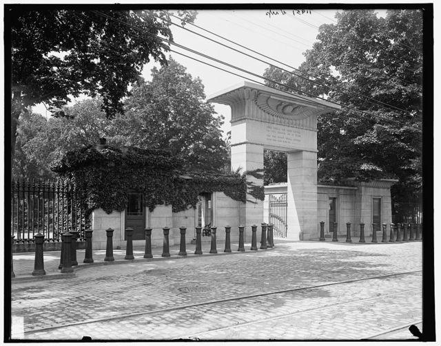 [Main entrance, Mt. Auburn Cemetery, Cambridge,Massachusetts]