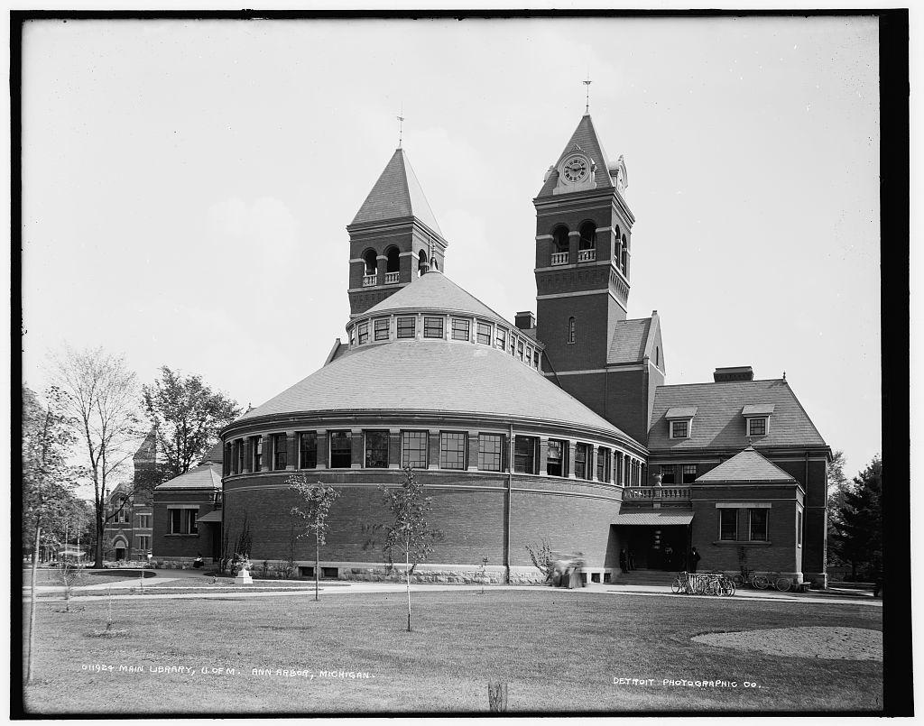 Main library, U. of M., Ann Arbor, Michigan