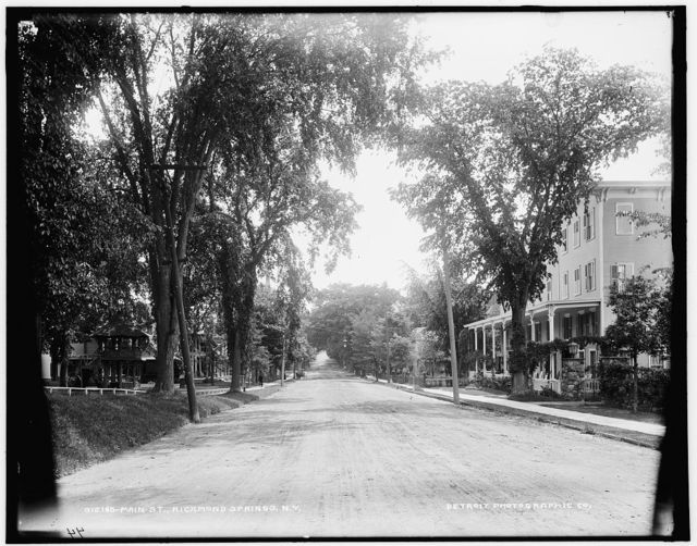 Main St., Richmond [sic] Springs, N.Y.