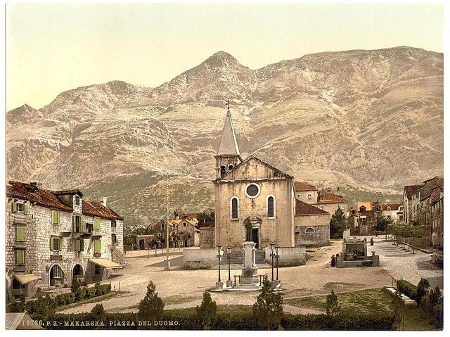 [Makarska, Cathedral Square, Dalmatia, Austro-Hungary]