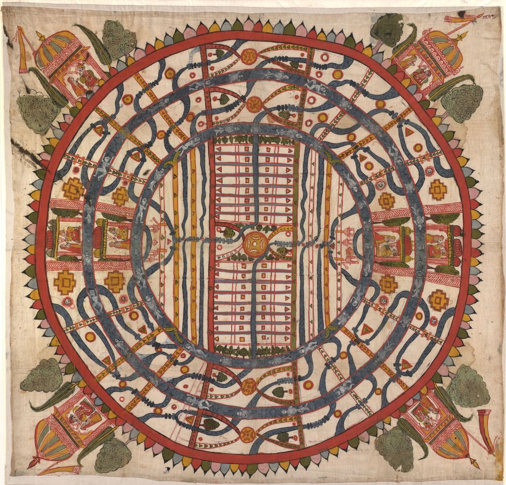 Manuṣyaloka, map of the world of man, according to Jain cosomological traditions.