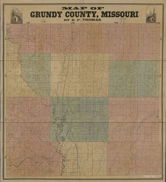 Map of Gundy County, Missouri /