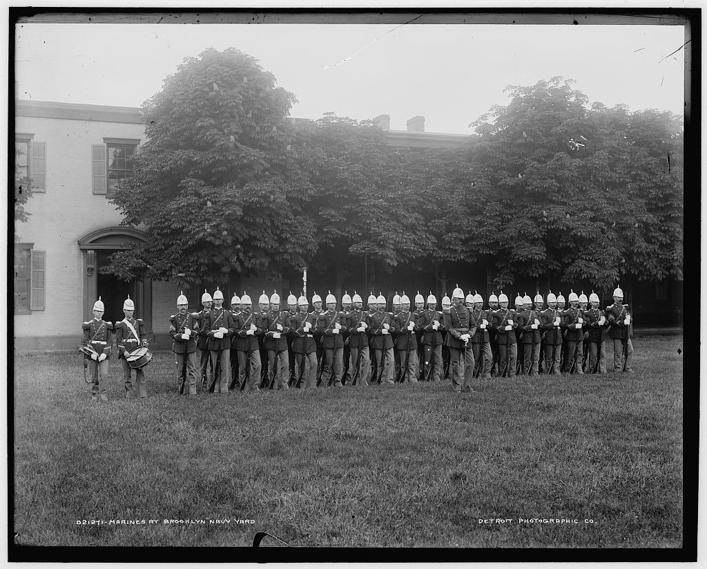 Marines at Brooklyn Navy Yard