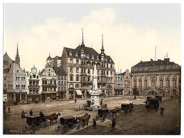 [Market place, Bonn, the Rhine, Germany]