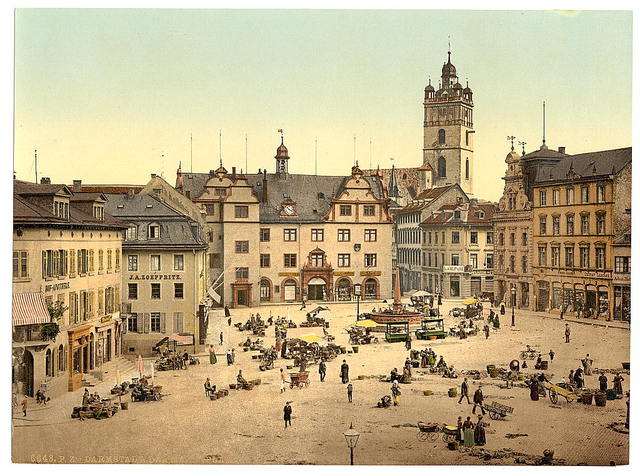 [Market place, Darmstadt, the Rhine, Germany]