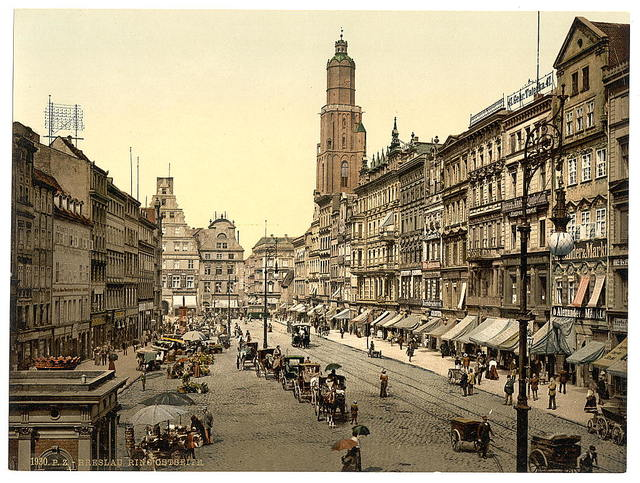 [Market place, from the East, Breslau, Silesia, Germany (i.e., Wrocław, Poland)]