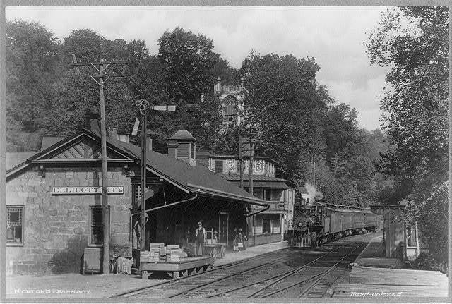 Maryland. Ellicott City, Railroad Station at Ellicott City, Maryland
