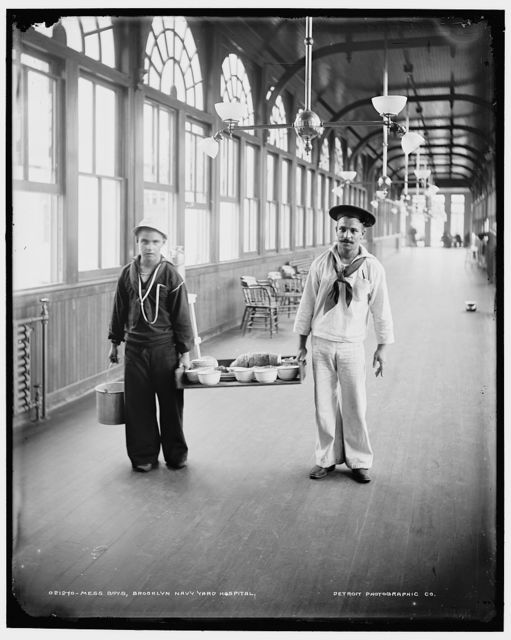 Mess boys, Brooklyn Navy Yard Hospital