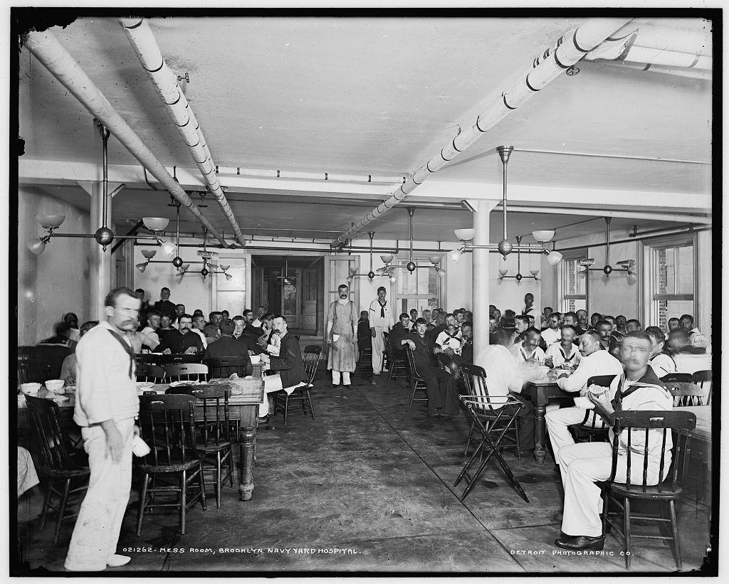 Mess room, Brooklyn Navy Yard Hospital