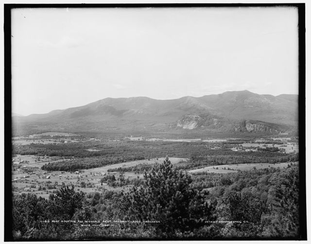 Moat Mountain and Intervale from prospect ledge, Kiarsarge [i.e. Mount Kearsarge], White Mountains