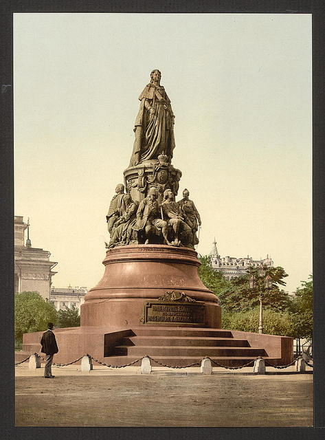 [Monument of Catherine II, St. Petersburg, Russia]