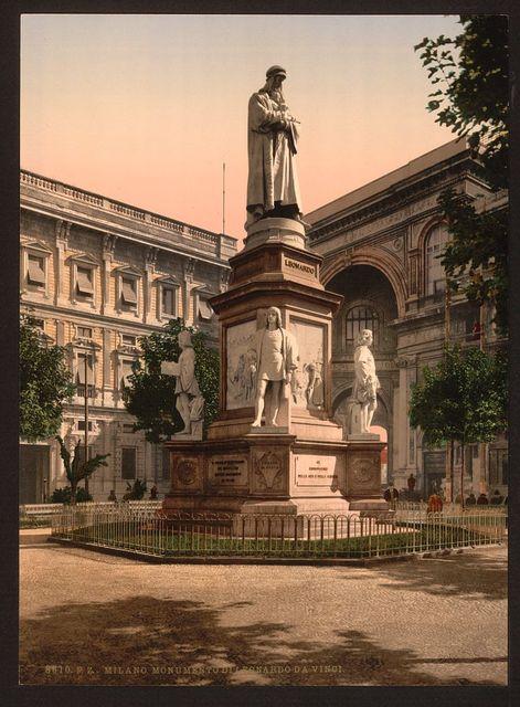 [Monument to Leonardo da Vinci, Milan, Italy]