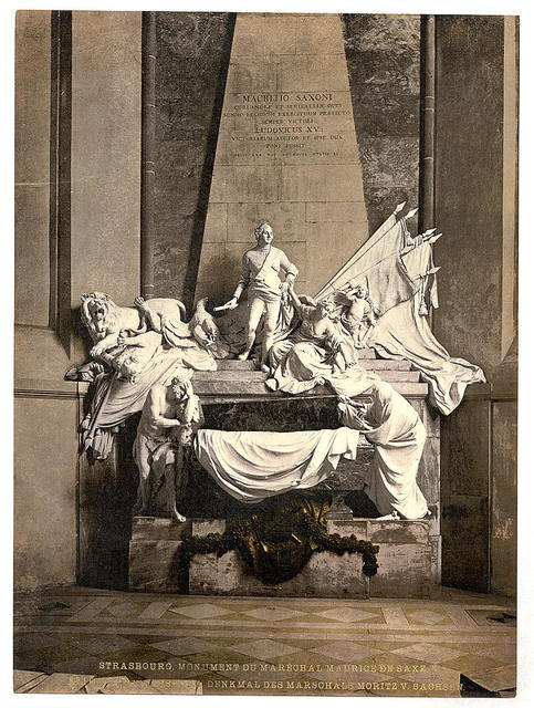 [Monument to Marshall Mauritz of Saxe, Strassburg, Alsace Lorraine, Germany]