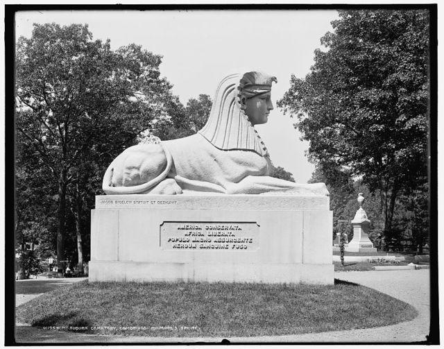 Mt. Auburn Cemetery, Cambridge, Milmore's sphinx