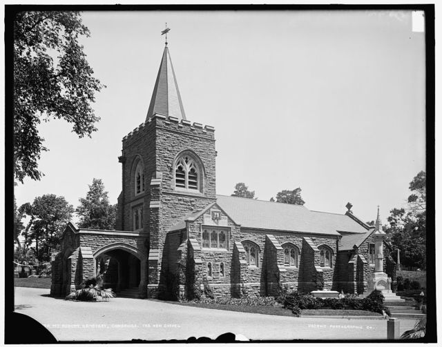 Mt. Auburn Cemetery, the new chapel, Cambridge, Massachusetts