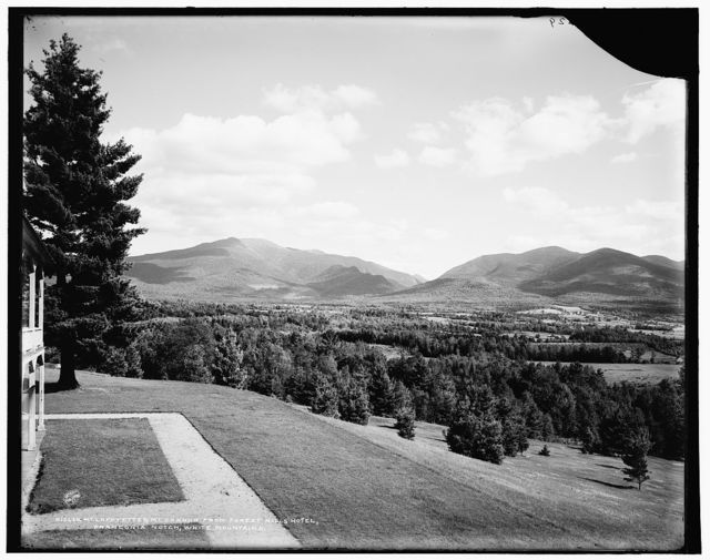 Mt. Lafayette & Mt. Cannon from Forest Hills Hotel, Franconia Notch, White Mountains