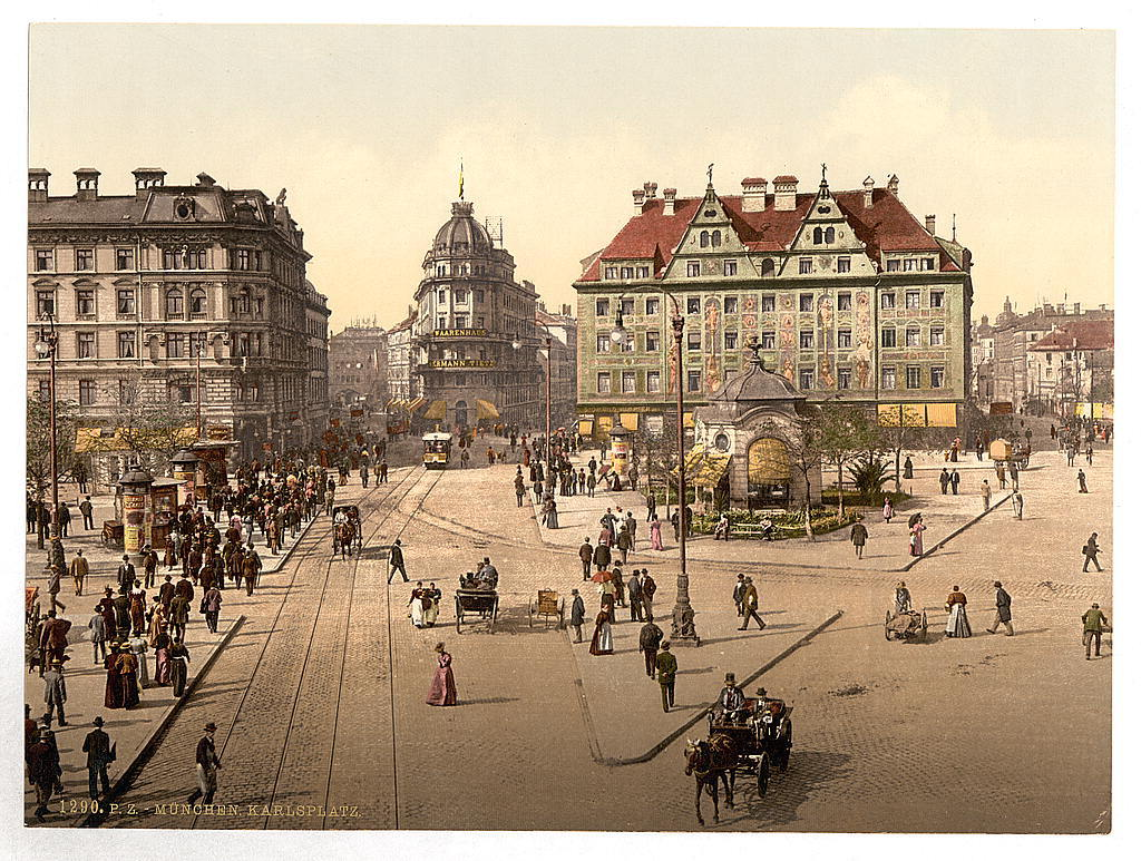 [Munich from the Carlsthor (i.e. Karlstor) towards Central R. R. Station, Bavaria, Germany]